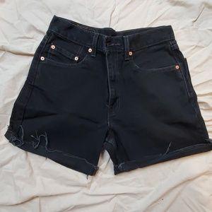 Levi's black denim cut-off size 30 waist